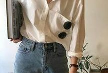 Jeans and a Nice Top Outfit Ideas / My everyday outfit is a pair of jeans and a nice top (usually a shirt). Here's a range of different ways to style/wear jeans and a shirt/top/t-shirt to inspire your daily look. Lots of easy to wear looks inspired by the French cool girl look.