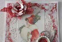 ~RED Cards~ / Beautiful card in red colors