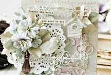 ~SHABBY CHIC Cards~ / Beutiful shabby chic cards in pastels and neutral colors
