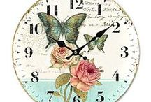~Vintage Clock Printables~ / Vintage Clocks Printables. Images to print out for your crafting projects.