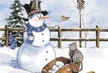 ~Vintage Snowmen~ / Snowmen - printable images.