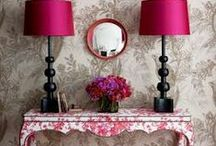 Interior desingn / Ideas for interior design..mainly pink & raspberry colour.. ;)