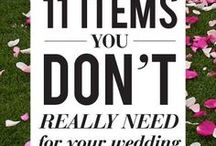 Wedding Tips! / Tips and tricks for everything wedding related!