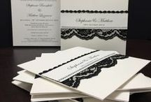 Black Lace Wedding Inspiration / Many of our brides love the idea of a black lace theme for their wedding, and this can be easily brought out in the design of their wedding stationery. Here are some images that inspired us to create our Luxe & Lace Collection.