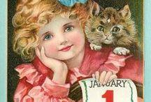 ~Vintage New Years~ / Vintage New Year greetings