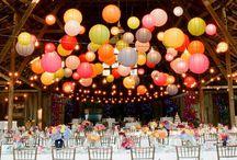 Plafond / Idées de décoration pour le plafond du lieu de réception de votre mariage.