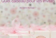 Cadeaux invités / Idées cadeaux pour les invités d'un mariage. Original ou traditionnel, vous avez le choix !