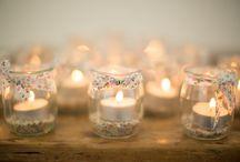 Déco tables mariage / Idées de décoration pour les tables de votre mariage : photophores, bougies, chemins de table, bouquets,...