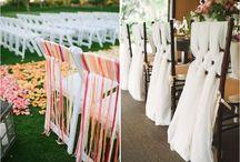 Déco chaises mariage / Idées pour la décoration de chaises à un mariage (lieu de réception, chaises des mariés, cérémonie,...)