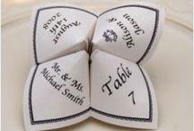 Carterie de mariage / Idées faire part, remerciements, marque place, menu,... Pour mariage