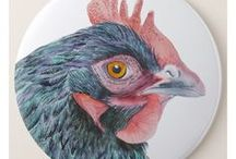 Farm Animal Watercolor Artworks / Farm animals painted in watercolor.  Wildlife prints.  Limited edition prints.
