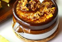 Soups  Stews Chowders & Chilis / Get it while it's HOT! / by Trudy Fletcher