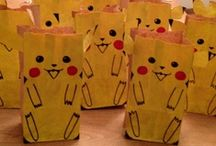 """Pokemon Birthday Party Ideas, Decorations, and Supplies / Pokemon. Party Supplies. Pickachu. Themes. Parties. """"Pokemon is the story of a young boy named Ash Ketchum. Finally having reached the age of 10, he receives his first Pokemon from Professor Oak and sets out on his Pokemon Journey. Along for the ride are his various friends: Misty, Brock, Tracey, May, Max, Dawn, Iris, and Cilan. Together, they journey through the Kanto, Orange, Johto, Hoenn, Battle Frontier, Sinnoh and Unova Leagues."""""""
