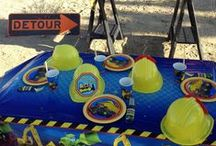 Tonka Construction Birthday Party Theme! / @lauraslilparty @htfps Tonka Construction Themed party ideas, Tonka party supplies, boys birthday party, party styling, party decoration, party food, truck party, DIY party- http://hardtofindpartysupplies.com/Tonka-Construction-Birthday-Party-Supplies
