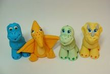PolymerClay_dino / dinosaurs and dragons