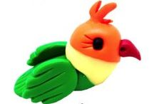 PolymerClay_exotic animals / these are exotic to me - from I`m from