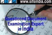 Questioned Document Analysis / Questioned Document Analysis and examination, sifs India has team of qualified and expert forensic expert, we do 100% accurate reports and widely accepted in all Courts