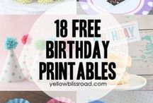Printable Birthday Ideas / Lots of free Birthday printables from around the Internet. If you require low cost ink for your printing then look at our low prices and special offers! www.InkFactory.com