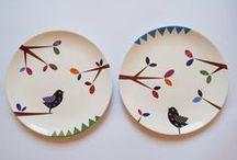 Porcelanas / Porcelanas pintadas á mão lindo trabalho que comecei a admirar.