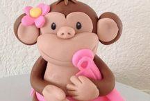 Lexi's Third Birthday girl monkey theme