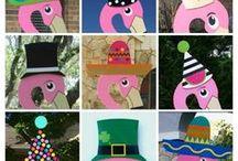 Flaming Birthday Signs San Antonio, TX / Pink Flamingo Birthday Signs StorkLadySigns.com San Antonio, TX