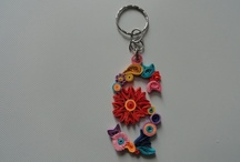 quilled S keychain / quilling