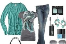Style Board / Neutrals: Navy   Colors: Blue, Green, Coral and Yellow   Style Words: Edgy, Fierce, Fun, Fabulous, Bold