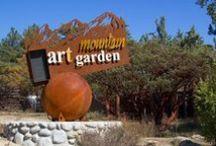 Dore's Mountain Art Garden / The board shows you some of the art displayed at Dore's Art Garden near Idyllwild in California. #Dore'sArtGarden #Art #Idyllwild #California