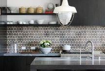 backsplashes + in the kitchen / ceramic - wood - glass