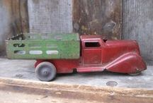 ANTIQUE RED TRUCKS / My husband dreams of a fancy new truck...I prefer the idea of an antique red truck. Think Walton's style though I don't know what colour their truck was! (Turns out it was green.) Anyway, on this board find lots of vintage red trucks both the real thing for driving or simply drooling over as well as for decorating the inside of your home at Christmas time or all year long!