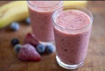 Smoothies / Drink with fruit and sugar. I love smoothies some off them are healthily but others are way to delicious.