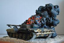 WW2 models-toys / Combat scenes