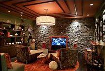 Valaistuksia, indoor lighting / Erilaisia valaisimia erilaisissa kohteissa