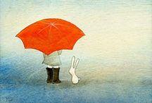 Umbrellas/paraplu's / by Lilian van Mansom