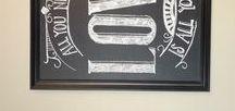 Chalk board art / Dit zou ik zoooo graag willen leren!