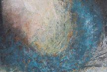 My paintings / Abstrakt oil and cold wax paintings by Dorte Boe - www.dorteboe.dk