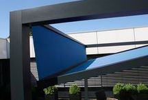 Sails, Canopies and Parasols / Sunsails, motorised canopies and parasols and umbrellas for every location. At the early stage of planning, contact us for technical advise and expertise.