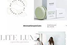 Clean Design + Branding / Clean, crisp, beautiful visual identities
