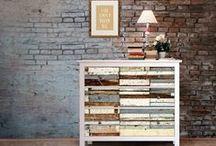 Holz Ideen | creatisto / Holz ist ein wunderbares Material für die Inneneinrichtung. Mit ihm lassen sich viele verschiedene Stile kreieren und doch bleibt der warme, einladende Look immer erhalten! Egal ob rustikal, Landhausstil oder Fake-Holz mit Klebefolien - We love everything <3