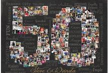 My Portfolio: NUMBER / MILESTONE COLLAGES / Milestone anniversary, milestone birthday