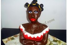 Artes Leca - Boneca Namoradeira / Trabalho de pintura feito em boneca de gesso (namoradeira)