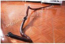 Artes Leca - Cobra / Cobra feita com galho seco
