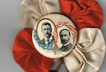 Historic Political Campaign Badges / Ribbons, Cockades and Photographs were all been used in election campaigns.