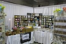 Craft show booths / Ideas for making a craft show booth that people will notice. Stampin' Up! display ideas, craft show stand, kiosk, market stall ideas,