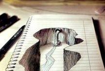 Optic illusions / Street art / Drawings