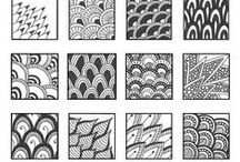 Zentangle / I've loved learning that Zentangle is not just doodling - that it is purposeful without purpose, a form of meditation - getting in the zone. Most of these pins are How To Zentangle. Thanks to the inspiring artists!