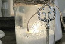 MASON JARS / Recycle your mason jars after the candles are done!  So many DIY ideas! .