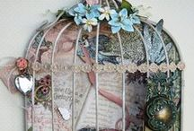 ♥Altered bird houses and cages♥