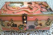 ♥Altered shoe boxes♥