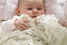 Knit & crochet baby blankets & buntings / Our family has a new baby on the way!  / by Suzy Gee
